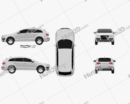 Audi Q7 2010 car clipart
