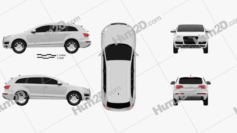 Audi Q7 2010 Clipart