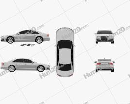 Audi A8 (D4) 2010 car clipart
