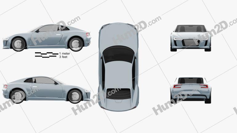 Audi e-tron 2010 car clipart