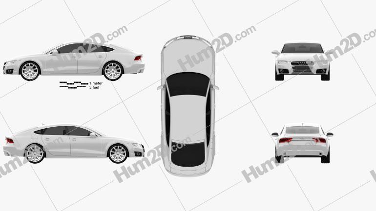 Audi A7 Sportback 2010 car clipart