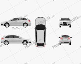 Audi A3 Sportback 2011 Clipart