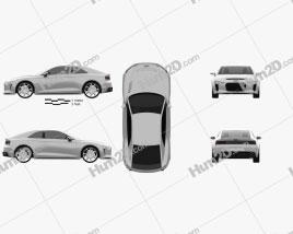 Audi Quattro 2012 car clipart