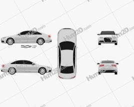 Audi A6 sedan 2012 car clipart