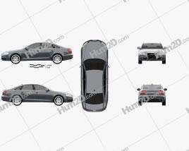 Audi A6 (C6) sedan 2011 car clipart