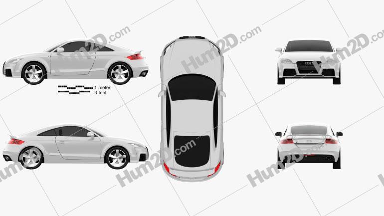 Audi TT RS 2009 car clipart