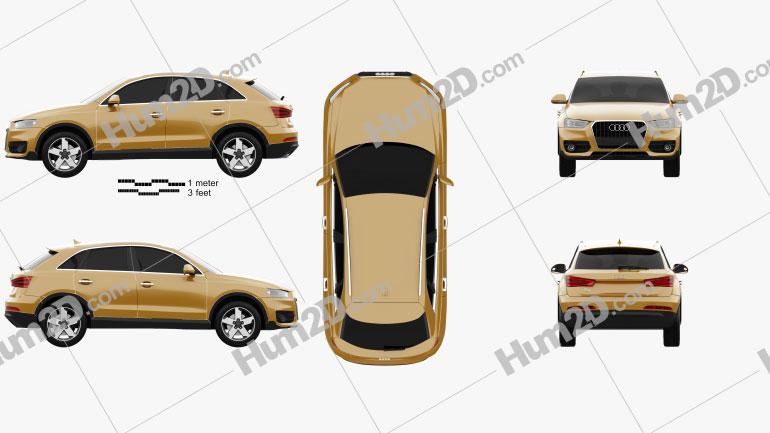 Audi Q3 2011 car clipart
