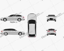 Audi A6 Avant 2012 Clipart
