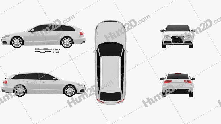 Audi A6 Avant 2012 car clipart
