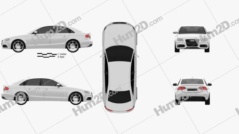 Audi A4 Saloon 2011 Clipart