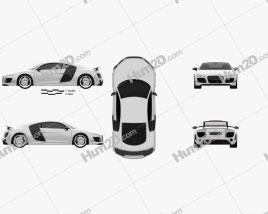 Audi R8 GT 2011 Clipart