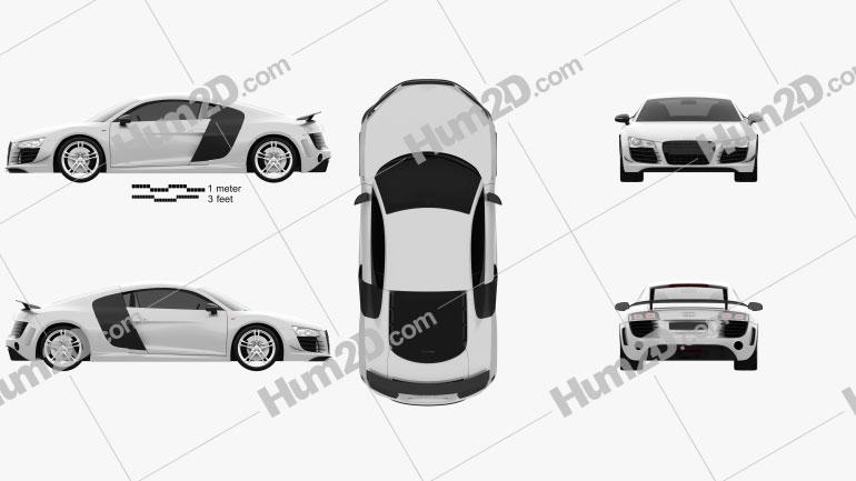 Audi R8 GT 2011 car clipart