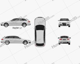 Audi S4 Avant 2011 Clipart