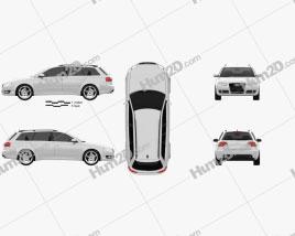 Audi A4 Avant 2005 Clipart