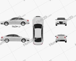 Audi A6 Saloon 2005 car clipart