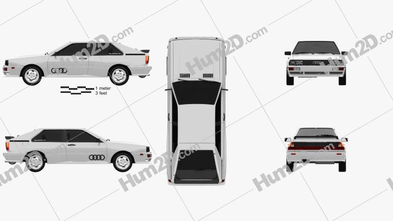 Audi Quattro 1980 Clipart Image