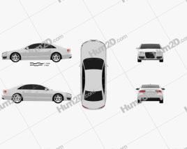 Audi S8 2013 car clipart