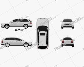 Audi A4 Avant 1999 car clipart