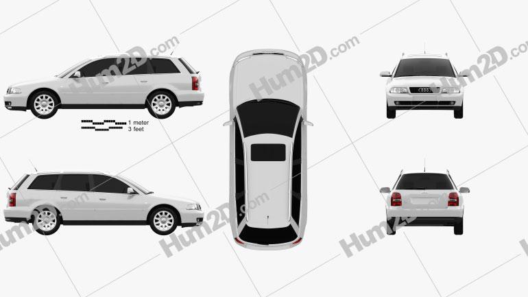 Audi A4 Avant 1999 Clipart Image
