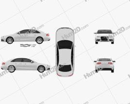 Audi A4 Sedan 2013 car clipart