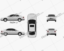 Audi A4 Sedan 1999 car clipart