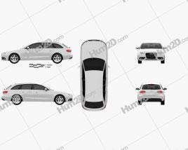 Audi A4 Avant 2013 Clipart