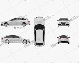 Audi RS4 Avant 2013 car clipart
