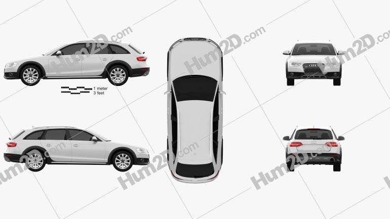 Audi A4 Allroad 2013 car clipart