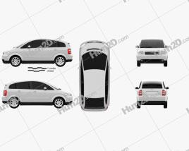 Audi A2 2005 car clipart