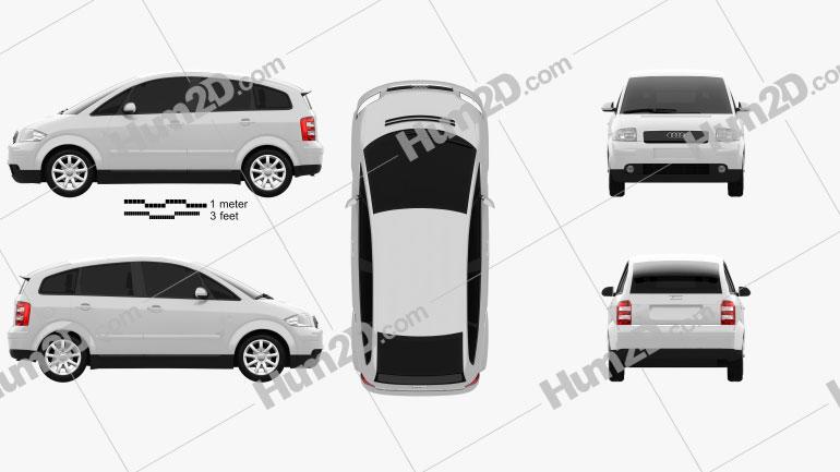 Audi A2 2005 Clipart Image