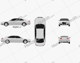 Audi A8 2009 Clipart