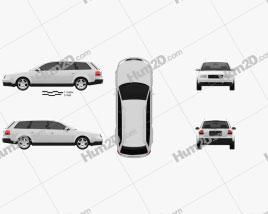 Audi A6 avant (C5) 2001 Clipart