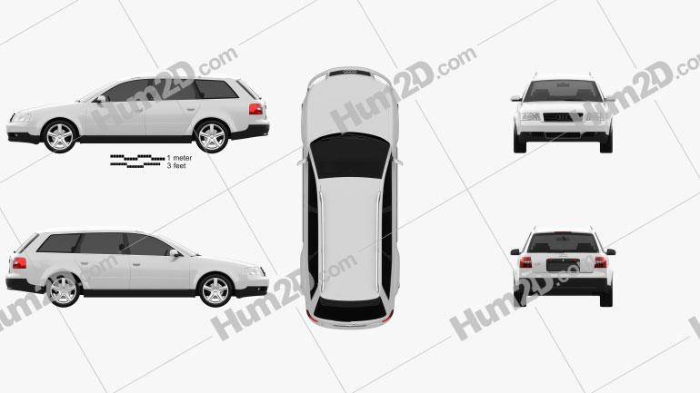 Audi A6 avant (C5) 2001 car clipart