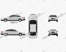 Audi A6 saloon (C5) 2001 car clipart