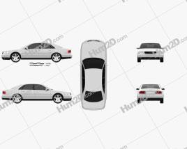 Audi A8 (D2) 1999 car clipart