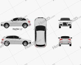 Audi Q5 2013 Clipart
