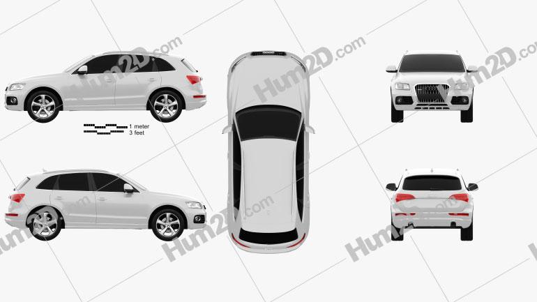 Audi Q5 2013 Clipart Image