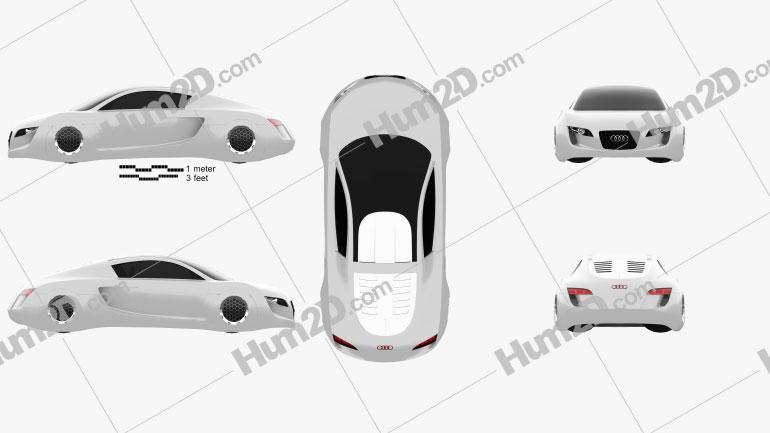 Audi RSQ 2004 Clipart Bild