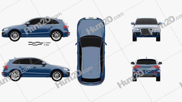 Audi SQ5 2013 Clipart Bild