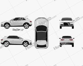 Audi Crosslane Coupe 2012 Clipart