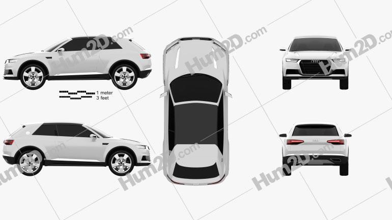 Audi Crosslane Coupe 2012 Clipart Image