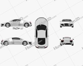 Audi R8 Coupe 2013 car clipart