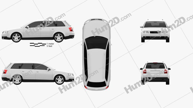 Audi A4 (B6) avant 2002 car clipart