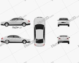 Audi A4 (B6) sedan 2002 car clipart