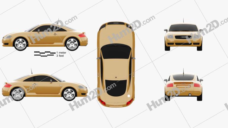 Audi TT Coupe (8N) 2003 car clipart