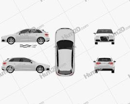Audi A3 Sportback S-Line 2013 Clipart