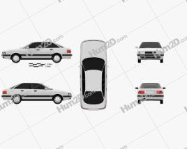 Audi 80 (B4) 1991 car clipart