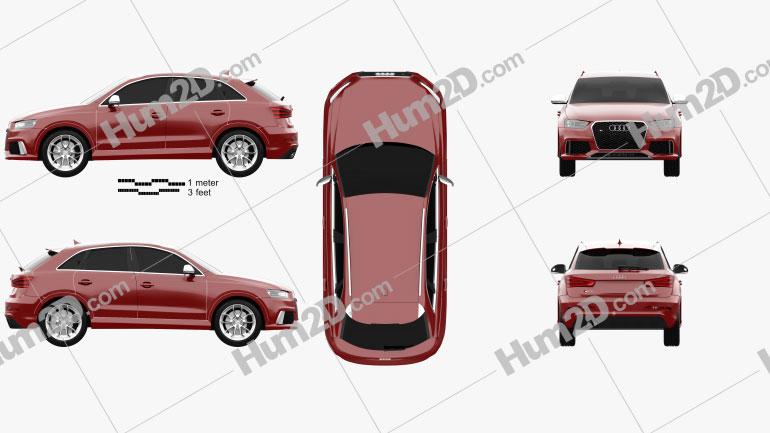 Audi RS Q3 2013 Clipart Bild