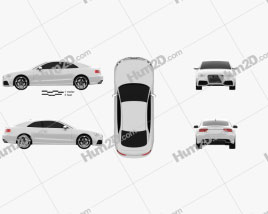 Audi RS5 coupe 2012 car clipart