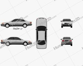 Audi 100 (C4) sedan 1991 car clipart